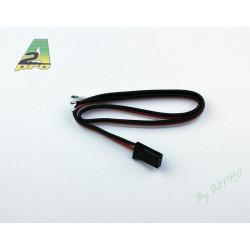 Cordon servo Futaba 30cm – cable 0.30mm²
