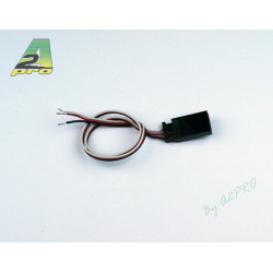 Cordon femelle Futaba 30cm - cable 0.10mm²