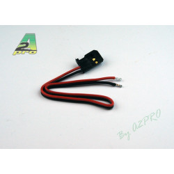 Cordon accu male Futaba 17cm - cable 0.30mm² (10 pieces)