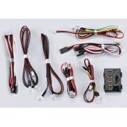 LED Light Set with 18 LED's & controller 10x White LED + 4x Red LED + 4x orange LED (KB48103)