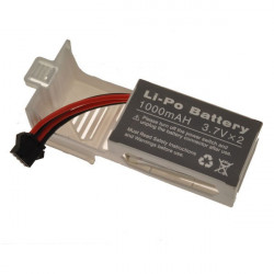 LIPO 7,4V 1000mAh + SUPPORT BLANC- U8421(RCU8421-05W)