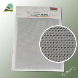 Grille acier inoxydable 200x140x0.80mm maille de 1.10mm (282005)