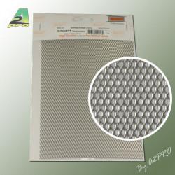 Grille acier inoxydable 200x140x1.10mm maille de 1.7x3.5mm (282023)