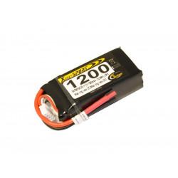 Batterie LiPo Xell Sport 3S 11,1V - 1200mAh 25C - sans connecteur (SAF08108)