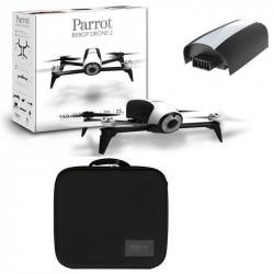 Drone Parrot Bebop 2 Blanc + Malette de transport Parrot + Batterie