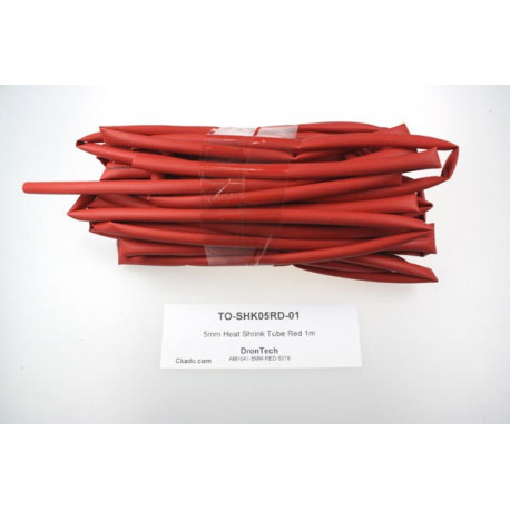 5mm Heat Shrink Tube Red 1m