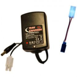 CHARGEUR 220V NI-CD/NI-MH 2 SORTIES 7.2V-8.4V/950mA - TX 9.6V/120mA
