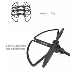 Quick release propeller guards for Yuneec Typhoon H480 quadcopter (Black)