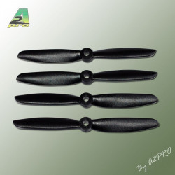 Helice PTK (2 paires CW+CCW) 5x4.5 Noir (PN5045)