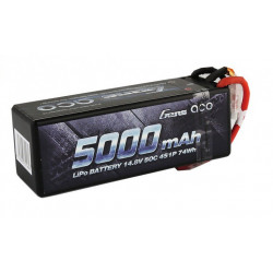 Gens ace 5000mAh 14.8V 50C 4S1P HardCase Lipo Battery 14 with new packing (B-50C-5000-4S1P-HARDCASE-14)