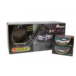 PACK DSLOT43 STARTER SET + PORCHE 911 GT3 SILVER & BLANCHE (D1434092P911)