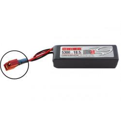 BATTERIE ORION LIPO LED 5S-5300-18.5V-50C -L164xW46xH48/722g- DEANS (ORI60204)