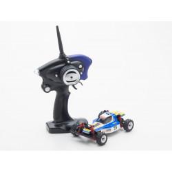 MINI-Z MB010S 4WD 1/24 OPTIMA BLEU/BLANC - READYSET (K.32082BW)
