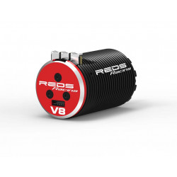MOTEUR BRUSHLESS REDS V8 1900KV 4 POLES SENSORED