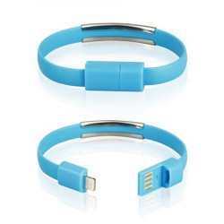 CABLE USB iPh.6/6s/5/5s BRACELET blue