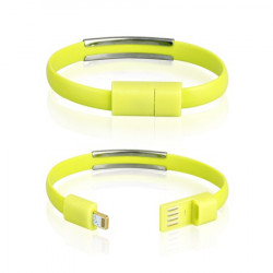 CABLE USB iPh.6/6s/5/5s BRACELET green