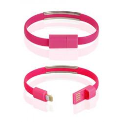 CABLE USB iPh.6/6s/5/5s BRACELET pink