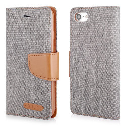 "CASE ""FANCY"" CANVAS iPhone 7 gray"