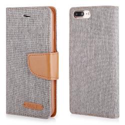 """CASE """"FANCY"""" CANVAS iPhone 7 Plus gray"""