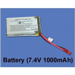 Batterie lipo 7.4v 1000mah cb180d v200 1&23 1&22 (Ref. Scorpio ES121-31)