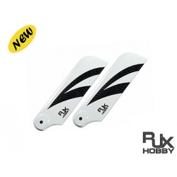 RJX Pale Anticouple Carbone Black and White 105mm Tail CF Blades (B Version)
