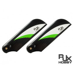 RJX Pale Anticouple Carbone Vector Green and White 85mm Tail CF Blades (B Version)