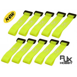 Strap Velcro pour Batteries 200X20mm x10pcs Yellow for FPV Racing (RJX1197)