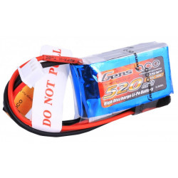 Gens ace 520mAh 7.4V 30C 2S1P Lipo Battery Pack (B-30C-520-2S1P)