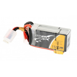 TATTU 1550mAh 14.8V 45C 4S1P Lipo Battery Pack (TA-45C-1550-4S1P)