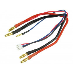 Cable de charge contact PK diam 4.0mm 2.5mm2 pour hardcase 2S LiPo XH (610004XH)