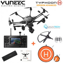 TYPHOON H RTF avec Radio ST16 + Camera CGO3 + 1 x Batterie + Pad d'envol + protection helice