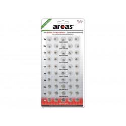 Pack de 50 piles bouton AG1-AG13 0% Mercury/Hg