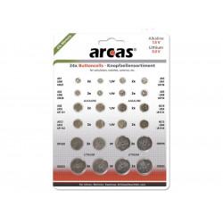 Pack de 24 piles bouton Arcas AG1 till CR2032 0% Mercury