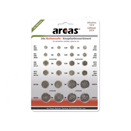 dt 12752400 pack de 24 piles bouton arcas ag1 till cr2032. Black Bedroom Furniture Sets. Home Design Ideas