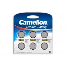 Pack Mix de 6 piles Camelion Lithium CR2016, CR2025, CR2032