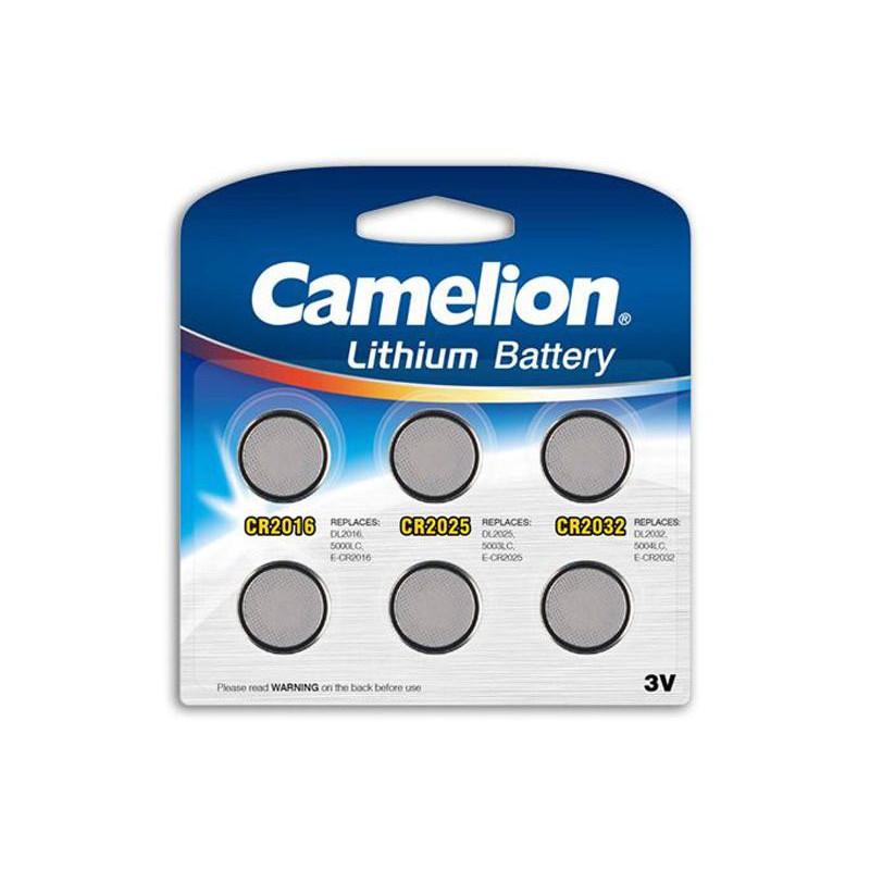 dt 13000600 pack mix de 6 piles camelion lithium cr2016. Black Bedroom Furniture Sets. Home Design Ideas