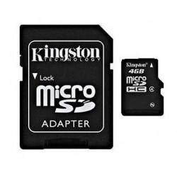 MicroSDHC 16Go Kingston CL4 - Sous Blister