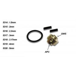 Adaptateur d'helice APC et GWS arbre 4mm (5319)