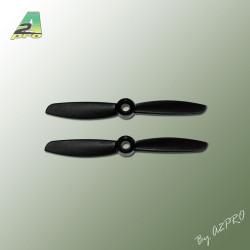 Helice Gemfan polycarbonate 4x4.5 push noir (2 pcs) (GN4045P)