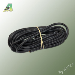Fil silicone AWG9 - 6.63mm2 noir (5m) (17092)
