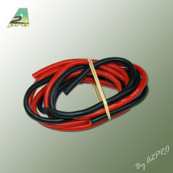 Fil silicone AWG9 - 6.63mm2 rouge+noir (2x1m) (17090)