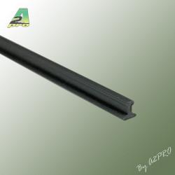 Profile styrene Rail Lg 1m x 2.40mm scale I (246055)
