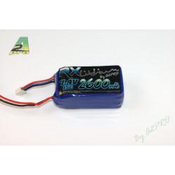 Pack Lipo Rx 2600mAh / 7.4V / JR (92605)