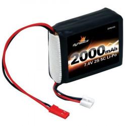 7.4V 2000mAh 2S 5C LiPo RxPck:1/8 (DYN1419)