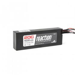 Reaction 7.4V 4000mAh 2S 20C LiPo Hard Case:Deans (DYN9001D)