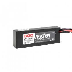 Reaction 7.4V 5000mAh 2S 30C LiPo Hard Case:Deans (DYN9005D)