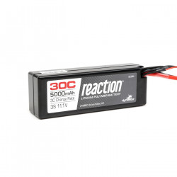 Reaction 11.1V 5000mAh 3S 30C LiPo Hard Case:Deans (DYN9007D)