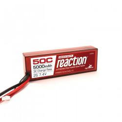 Reaction 7.4V 5000mAh 2S 50C LiPo, Hardcase: EC5 (DYNB3810EC)