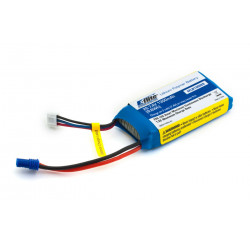 1300mAh 2S 7.4V 20C LiPo 13 AWG EC2 (EFLB13002S20)