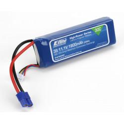 1800mAh 3S 11.1V 30C LiPo13AWG EC3 (EFLB18003S30)
